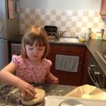 Elodie making mini scones
