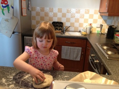 Elodie making mini scones