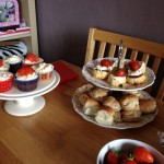 Sandwiches, cakes & mini scones